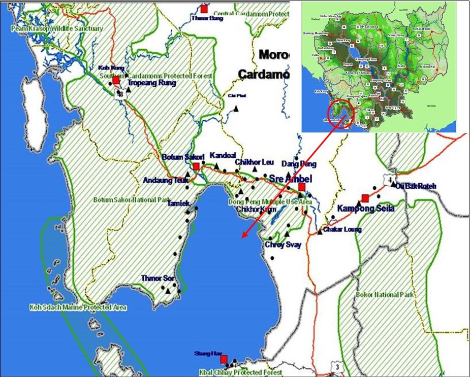 Map of Morodok Program Area