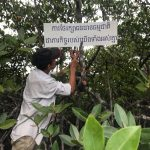 CFI patrol team of Tomnob Rolork's Community Fishery take action to post banners